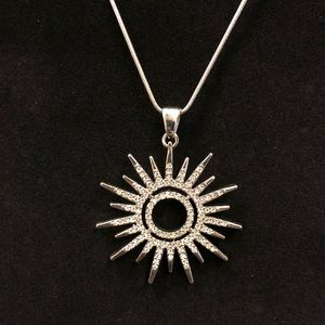 Sunburst Sparkle Pendant Necklace